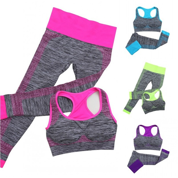 Stretchable Women Fitness Wear Workout Clothes (Set of 2)