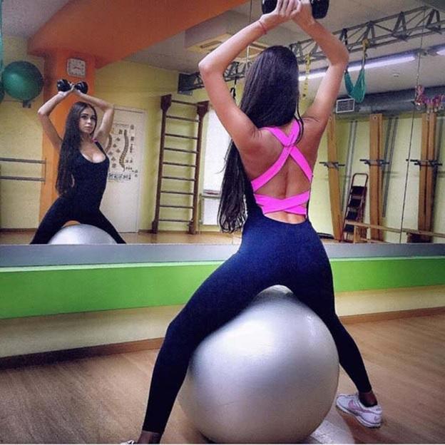 Workout Jumpsuit Ladies Activewear